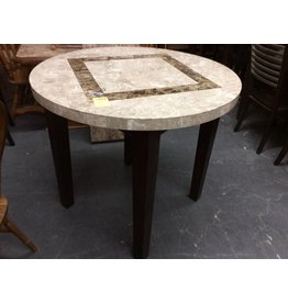 Pub table only marble top dark cherry
