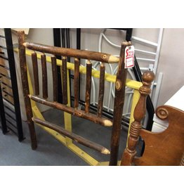 Twin lodge pole headboard