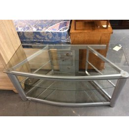 3 tier Tv stand glass and metal