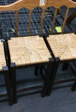 4 barstools wicker and cherry wood