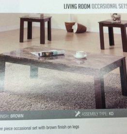 New 3 pc occ set coffee table2 end tables faux marble top