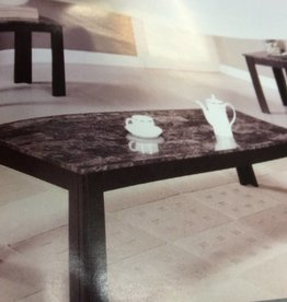 New 3 pc occ set coffee table 2 end tables black with faux marble top
