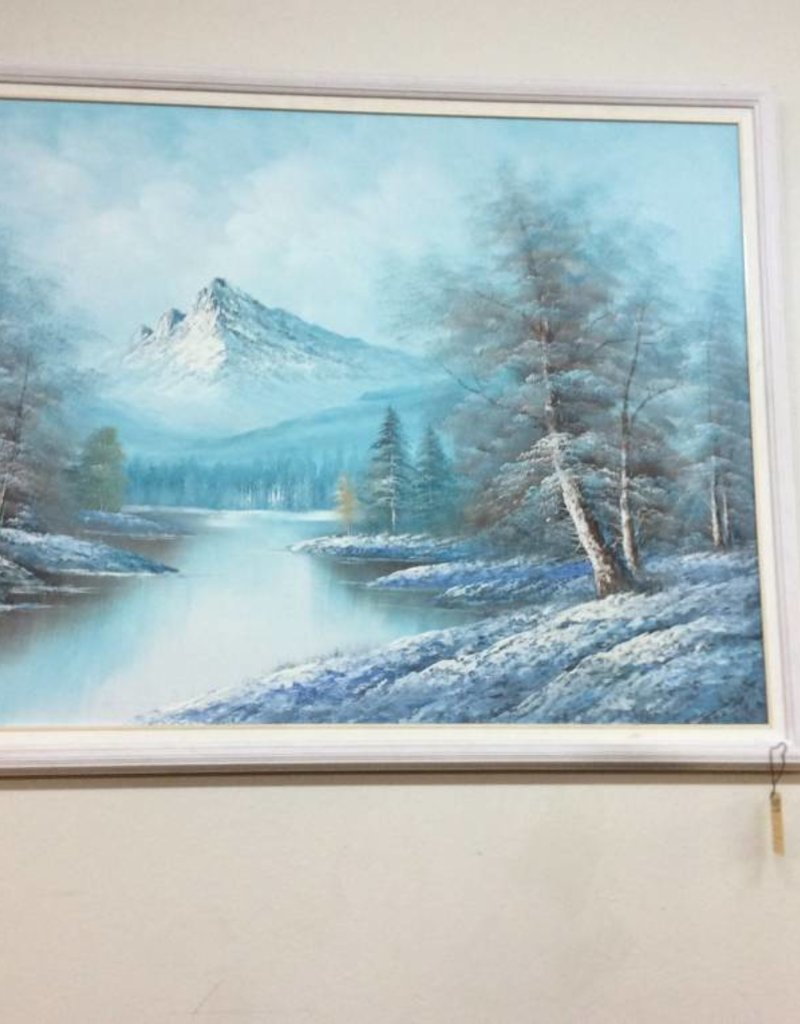 Painting mountain/river
