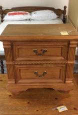 2 drawer nightstand pine