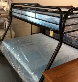 Twin/full bunk bed black metal
