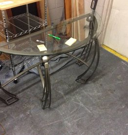 Sofa table glass and metal