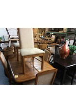 7 pc dinette with leaf oak with high back chairs