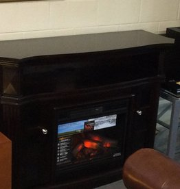 Tv stand fireplace dark cherry with remote