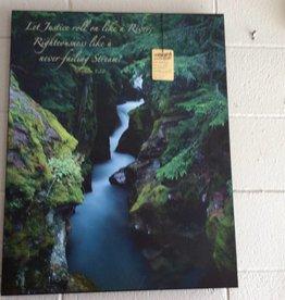 Wall art mountain creek