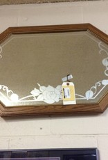 Hanging mirror w/ hooks