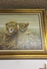 Painting lions