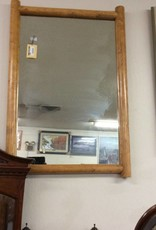 Hanging mirror lodge pole