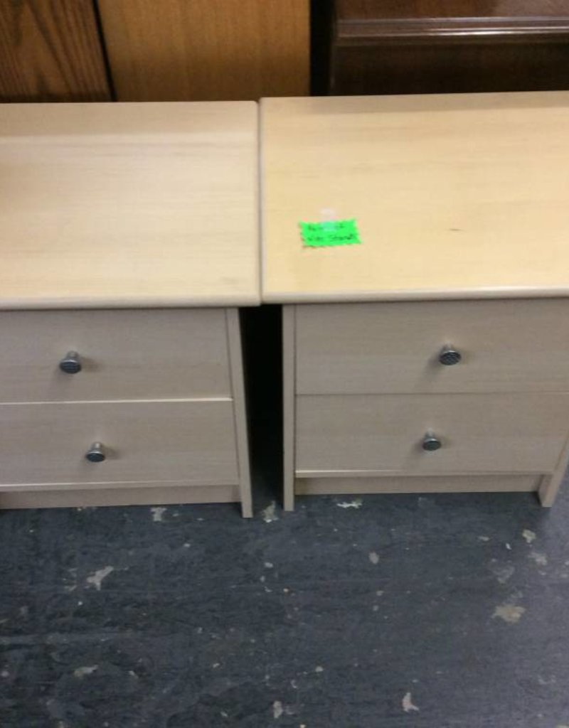 Pair of night stands natural