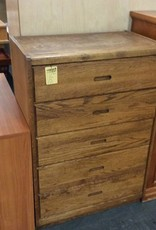 5 drawer chest oak