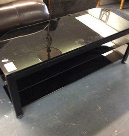 3 tier t.v. Stand black and glass