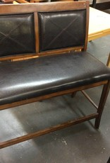 Barstool bench cherry and faux leather