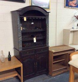 Wine rack walnut with cabinet