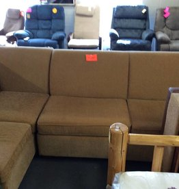 3 pc sectional with Otto yellow