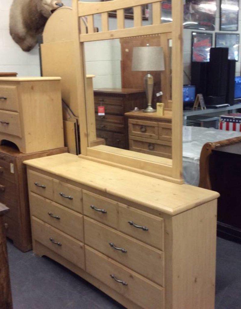 Full 5 piece bedroom set pine