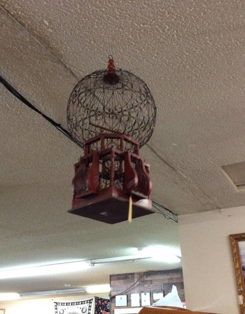 Bird cage orange circle