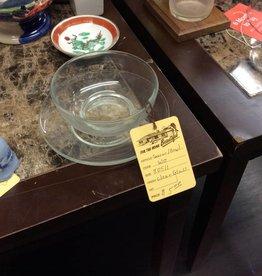 Saucer / bowl clear glass