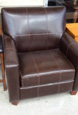 Arm chair brown leather