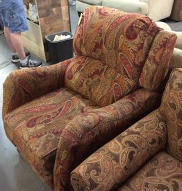 Push back recliner paisley