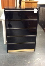 5 drawer black chest