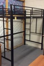Loft bed black metal