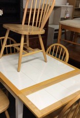 7 pc dinette white tile and natural