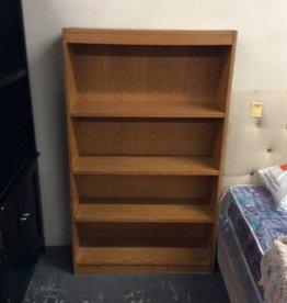 5' bookcase oak