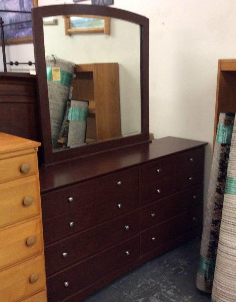 6 drawer dresser dark oak wrap