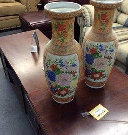 Vase orange and floral