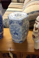 Plant stand blue ceramic