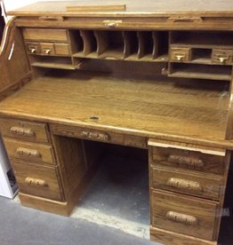 Roll top desk oak