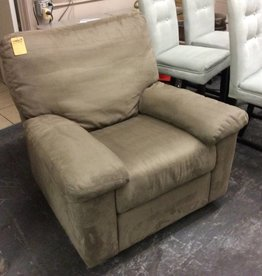 Swivel rocker recliner tan micro