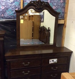 8 drawer dresser with mirror cherry