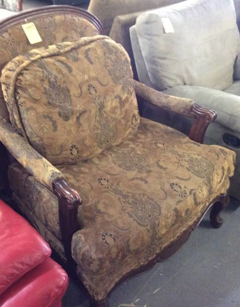 Paisley arm chair walnut