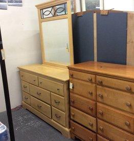 8 drawer dresser with mirror natural
