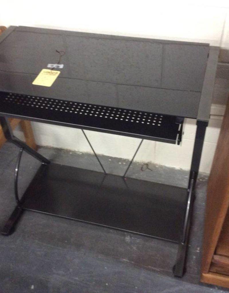 Desk glass and black