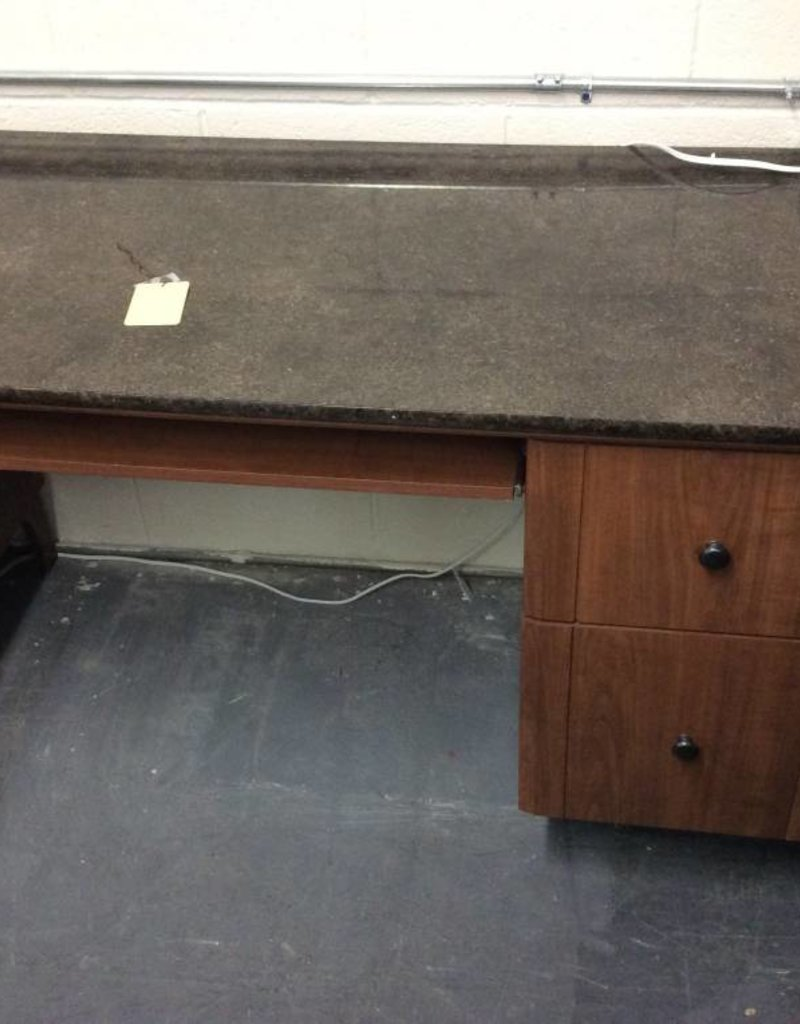 Desk faux marble and oak