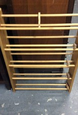 Cd rack wood with round spindles
