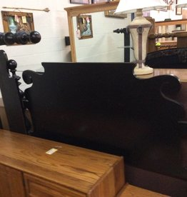 Queen bedstead black with matching rails
