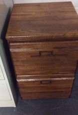 2 drawer file oak