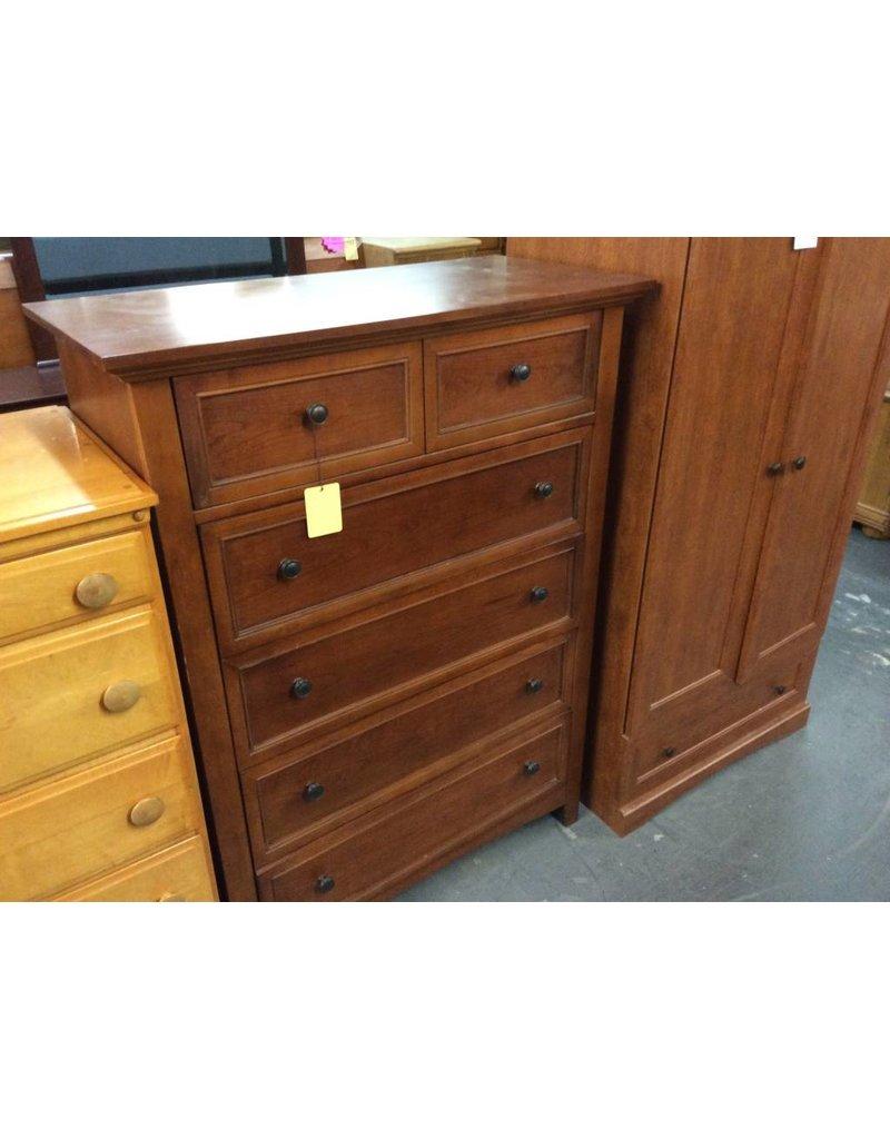 5 drawer dark oakwrap chest