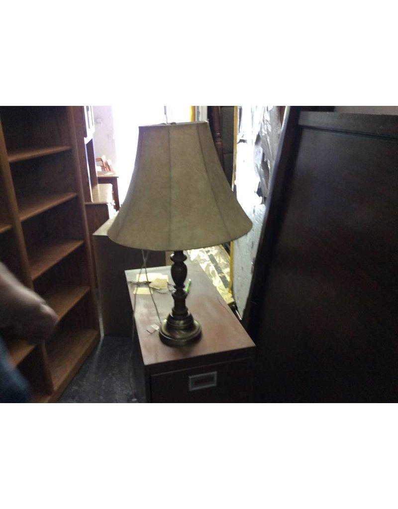 Lamp bronze and oak