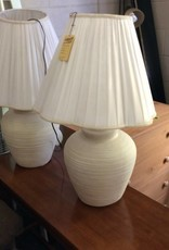 Pair of lamps white