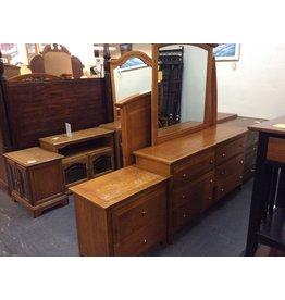5 piece bedroom set oak