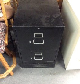Attrayant 2 Drawer File Cabinet / Black   Metal