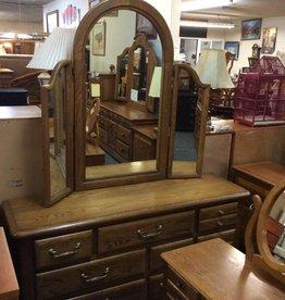 9 drawer oak dresser